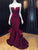 Mermaid Prom Dress Modest Beautiful Cheap Burgundy Long Prom Dress #VB1833