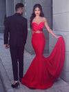 Mermaid Red Prom Dress Modest Beautiful Cheap Long Prom Dress #VB1835