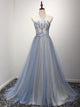 A Line Strapless Prom Dress Modest Beautiful Cheap Long Prom Dress #VB1839