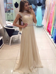 Chic A Line Prom Dress Modest Beautiful Cheap Long Prom Dress #VB1842