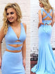 Two Piece Mermaid Prom Dress Modest Beautiful Cheap Long Prom Dress #VB1858