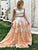 Two Piece Prom Dress Modest Cheap Long Prom Dress #VB1859