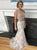 Mermaid Two Piece Prom Dress Modest Beautiful Lace Long Prom Dress #VB1861