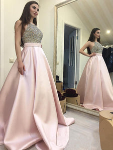Chic Pink Prom Dress Modest Beautiful Cheap Long Prom Dress #VB1863