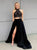 Two Piece Black Prom Dress Modest Beautiful Cheap Long Prom Dress #VB1871
