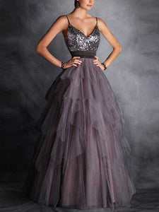 Chic A Line Prom Dress Modest Cheap Long Prom Dress #VB1885