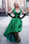 V Neck Green Prom Dress Modest Cheap Long Prom Dress #VB1894