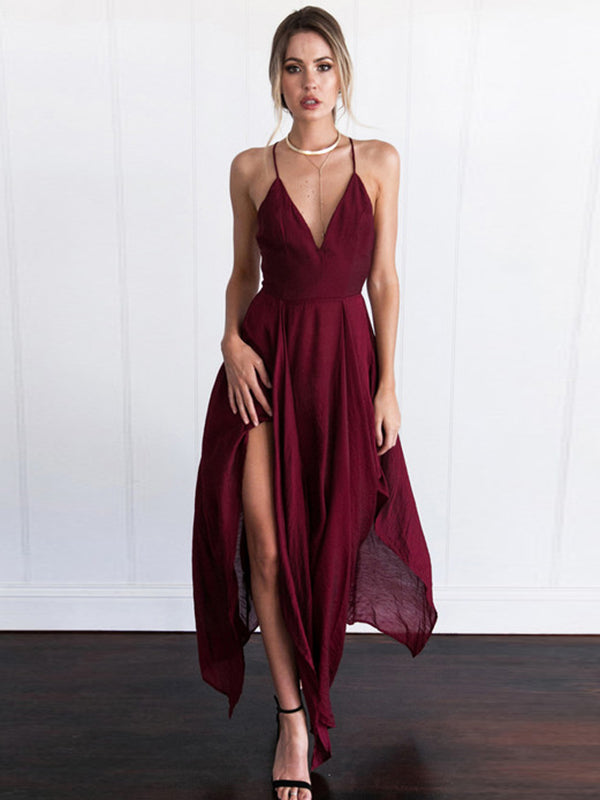 c5e05e9af71 2018 Burgundy Prom Dress Modest Cheap Simple Long Prom Dress  VB1903 -  DemiDress.com