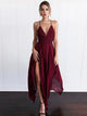 2018 Burgundy Prom Dress Modest Cheap Simple Long Prom Dress #VB1903 - DemiDress.com