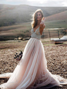 Chic Pink Prom Dress Modest Cheap Simple Long Prom Dress #VB1904