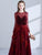 Burgundy Prom Dress Modest Beautiful Cheap Lace Long Prom Dress #VB1905