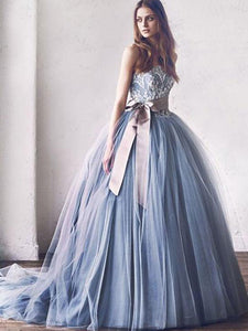 Ball Gown Prom Dress Modest Beautiful Simple Cheap Long Prom Dress #VB1908