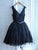 Lace Homecoming Dress V Neck Simple Cheap Homecoming Dress # VB2005