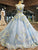 Ball Gown Blue Prom Dress Vintage Cheap African Long Prom Dress # VB2011