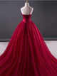 Chic Burgundy Prom Dress Modest Cheap Long Prom Dress #VB2018