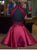 Two Piece Homecoming Dress Burgundy Cheap Homecoming Dress # VB2022