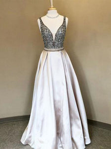 Chic Strap A Line Prom Dress Modest Cheap Long Prom Dress #VB2030