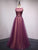 Chic A Line Prom Dress Modest Purple Cheap Long Prom Dress #VB2040