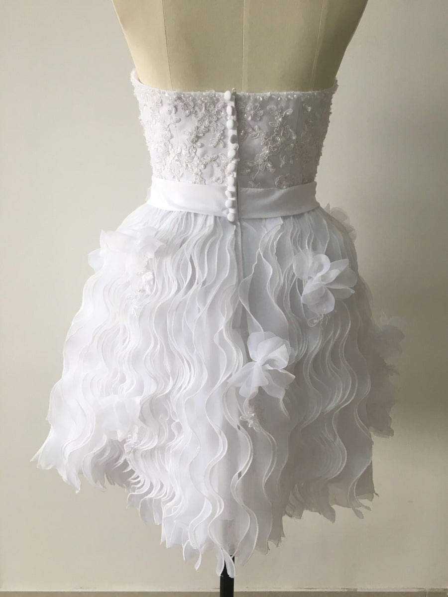 2018 A Line Homecoming Dress Ivory Cheap Homecoming Dress # VB2047