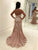Sheath Lace  Prom Dress Modest Cheap Long Pink Prom Dress #VB2056