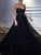 2018 Chic A Line Prom Dress Black Cheap Long Prom Dress #VB2063 - DemiDress.com