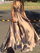 A-line Spaghetti Straps Floor-length Sleeveless Taffeta Prom Dress/Evening Dress # VB208