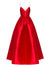 2018 Chic A Line Prom Dress Red Cheap Long Prom Dress #VB2083