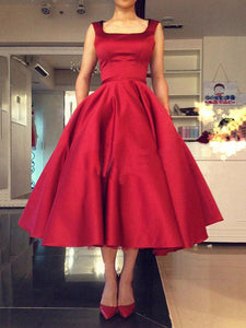 Chic A Line Prom Dress Cheap Red Long Prom Dress #VB2087