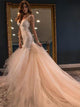 2018 Vintage Wedding Dress Mermaid Lace Wedding Dress # VB2097