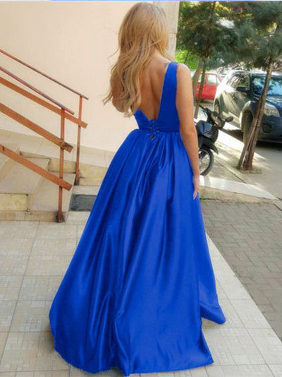 2018 A Line Prom Dress  Royal Blue Cheap Long Prom Dress #VB2100 - DemiDress.com