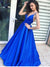 2018 A Line Prom Dress  Royal Blue Cheap Long Prom Dress #VB2100