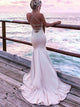 Chic Mermaid Prom Dress Cheap Long Lace Prom Dress #VB2108