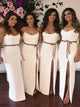 2018 Sheath Bridesmaid Dresses White Cheap Long Bridesmaid Dresses # VB2126 - DemiDress.com