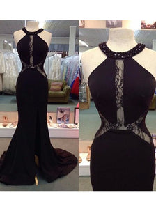 2018 Mermaid Chiffon Prom Dress Black Cheap Long Prom Dress #VB2128 - DemiDress.com