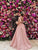 2018 A Line Pink Prom Dress Cheap Long Prom Dress #VB2129 - DemiDress.com