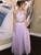 2018 Two Piece Lavender Prom Dress Cheap Long Prom Dress #VB2144 - DemiDress.com
