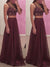 2018 Two Piece Burgundy Prom Dress Chiffon Cheap Long Prom Dress #VB2145