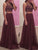 2018 Two Piece Burgundy Prom Dress Chiffon Cheap Long Prom Dress #VB2145 - DemiDress.com