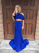 2018 Two Piece sheath Prom Dress Cheap Long Prom Dress #VB2146 - DemiDress.com