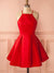 2018 Red Homecoming Dress Simple Cheap Homecoming Dress #VB2168