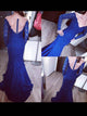 Sheath/Column Off-the-shoulder Floor-length Long Sleeve Tulle Prom Dress/Evening Dress # VB216