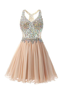2018 Chiffon Homecoming Dress Cheap A Line Homecoming Dress #VB2172 - DemiDress.com