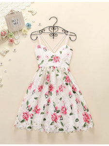 2018 Lace Homecoming Dress Floral Cheap Homecoming Dress #VB2173 - DemiDress.com