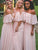 Pink Chiffon Bridesmaid Dresses Cheap Long Bridesmaid Dresses # VB2187