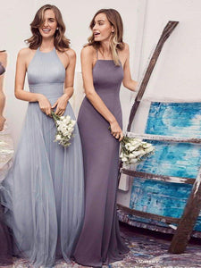2018 Silver Bridesmaid Dresses Cheap Long Bridesmaid Dresses # VB2188 - DemiDress.com