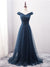 Chic Off The Shoulder Prom Dress Tulle Cheap Long Prom Dress #VB2199