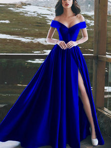 Chic Off The Shoulder Prom Dress Cheap Long Prom Dress #VB2207