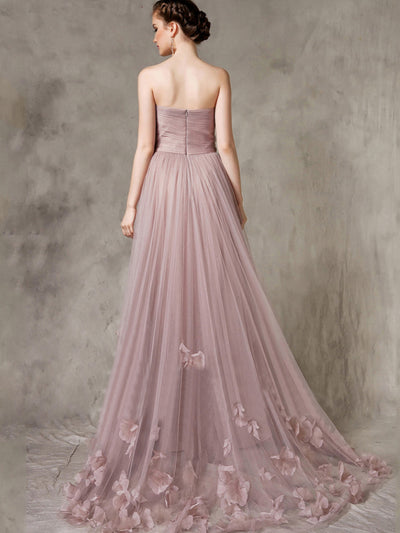 2018 A Line Prom Dress Cheap Long Tulle Prom Dress #VB2216 - DemiDress.com