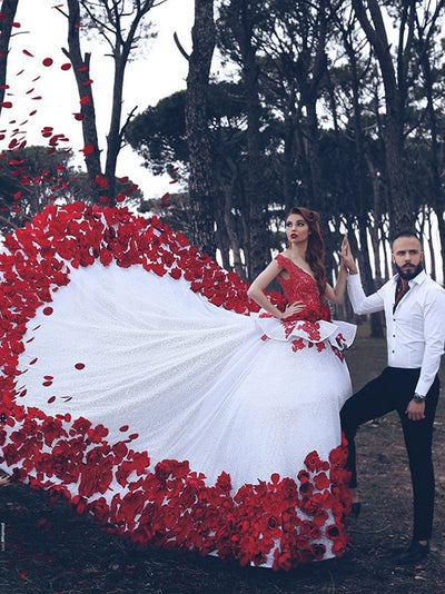 Red And White Wedding Dress.Red And White Wedding Dresses Fashion Dresses