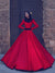 2018 Red Vintage Wedding Dress Long Sleeve Cheap Wedding Dress # VB2232